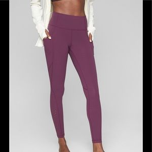 Athleta laser cut salutation leggings